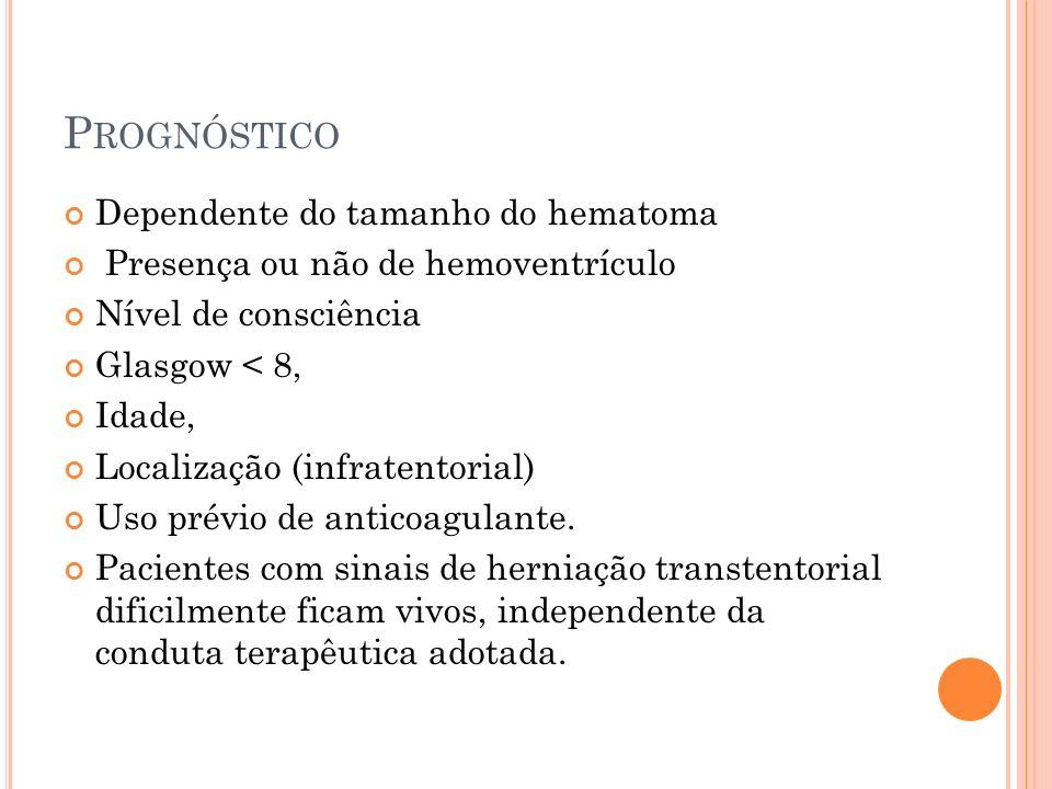 Prognóstico Dependente do tamanho do hematoma
