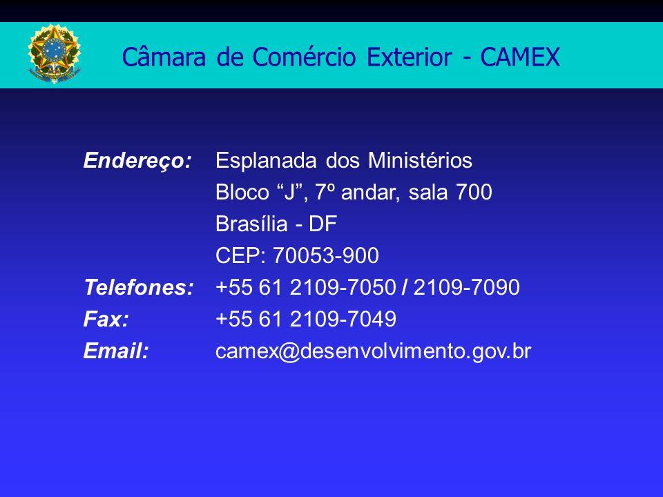 Câmara de Comércio Exterior - CAMEX