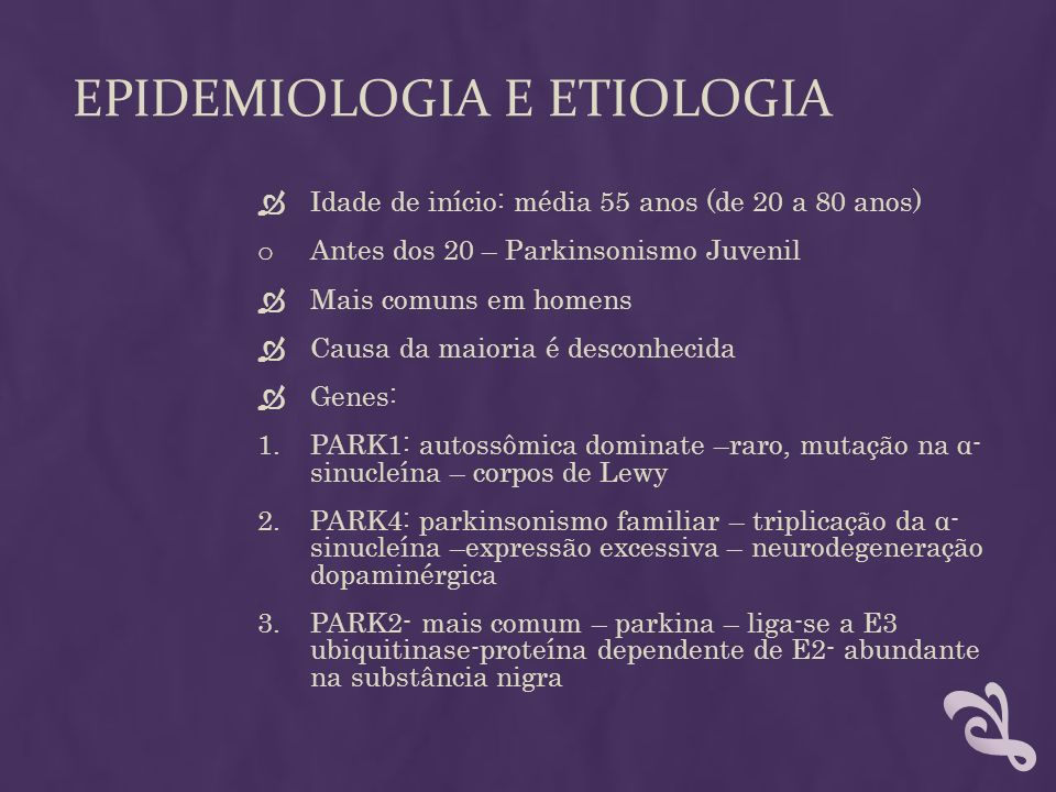 Epidemiologia e etiologia