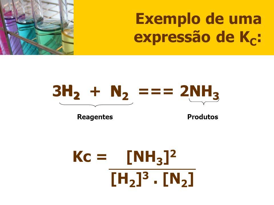 Exemplo de uma expressão de KC: