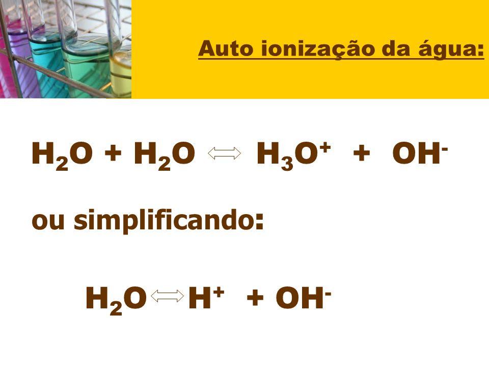Auto ionização da água: