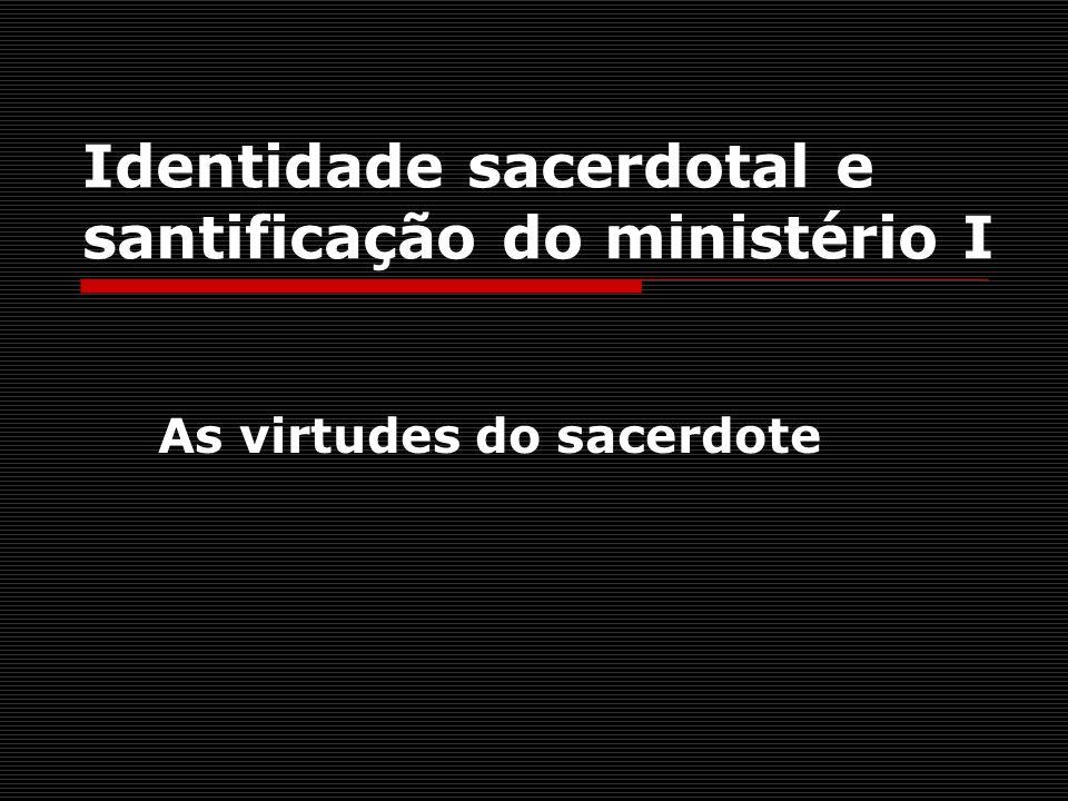 Identidade sacerdotal e santificação do ministério I