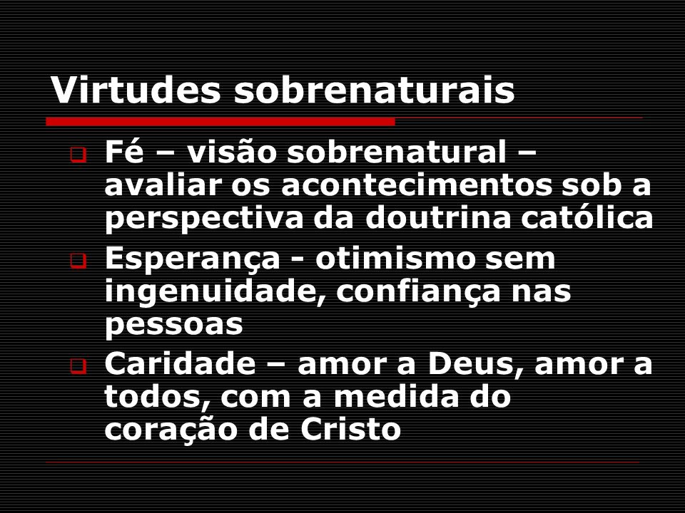 Virtudes sobrenaturais