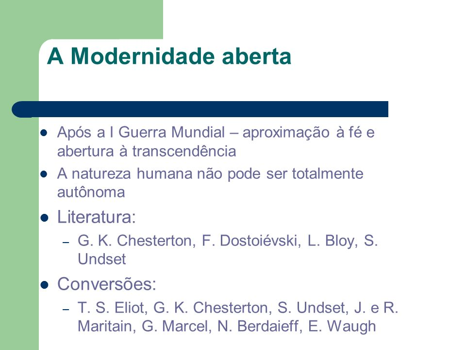 A Modernidade aberta Literatura: Conversões: