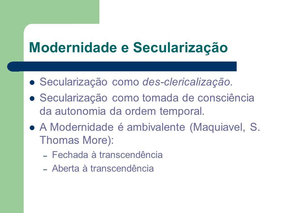 Modernidade e Secularização