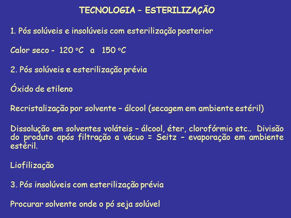 TECNOLOGIA – ESTERILIZAÇÃO