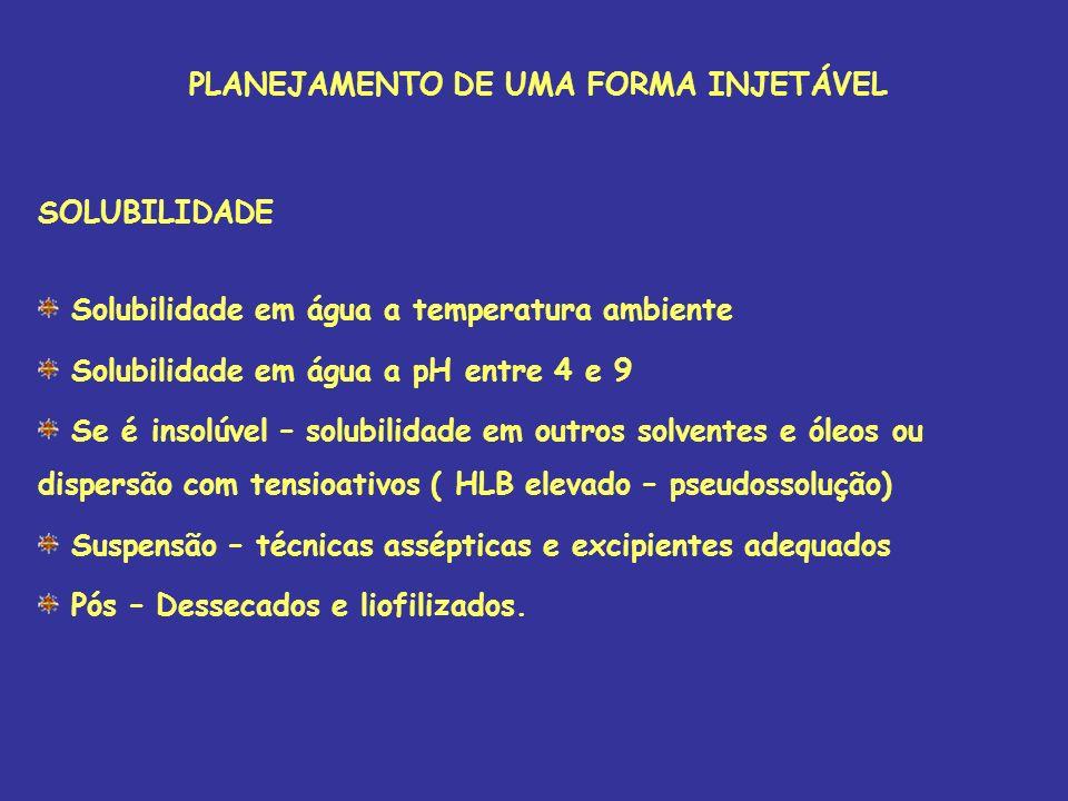 PLANEJAMENTO DE UMA FORMA INJETÁVEL