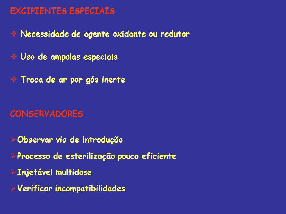 EXCIPIENTES ESPECIAIS