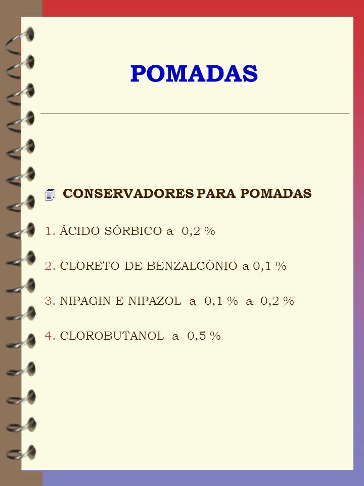 POMADAS CONSERVADORES PARA POMADAS 1. ÁCIDO SÓRBICO a 0,2 %
