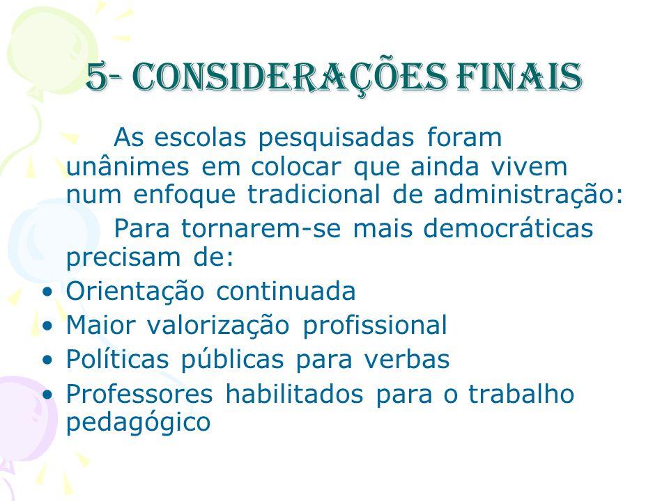 5- Considerações finais