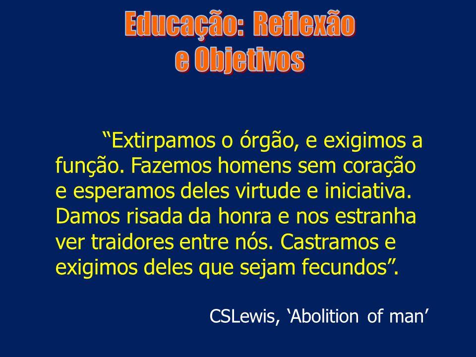 Educação: Reflexão e Objetivos