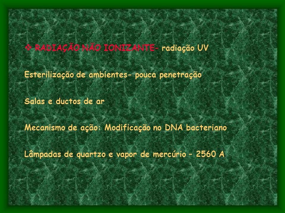 RADIAÇÃO NÃO IONIZANTE- radiação UV