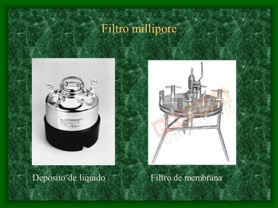Filtro millipore Depósito de liquido Filtro de membrana