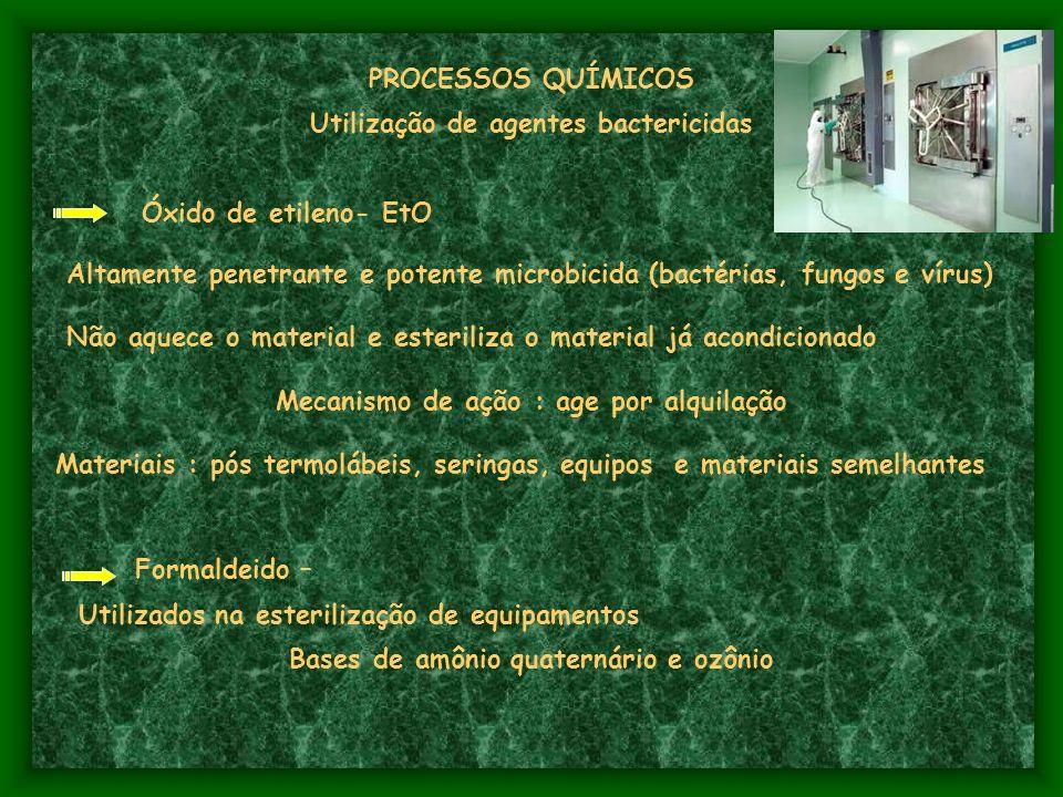 Utilização de agentes bactericidas Óxido de etileno- EtO