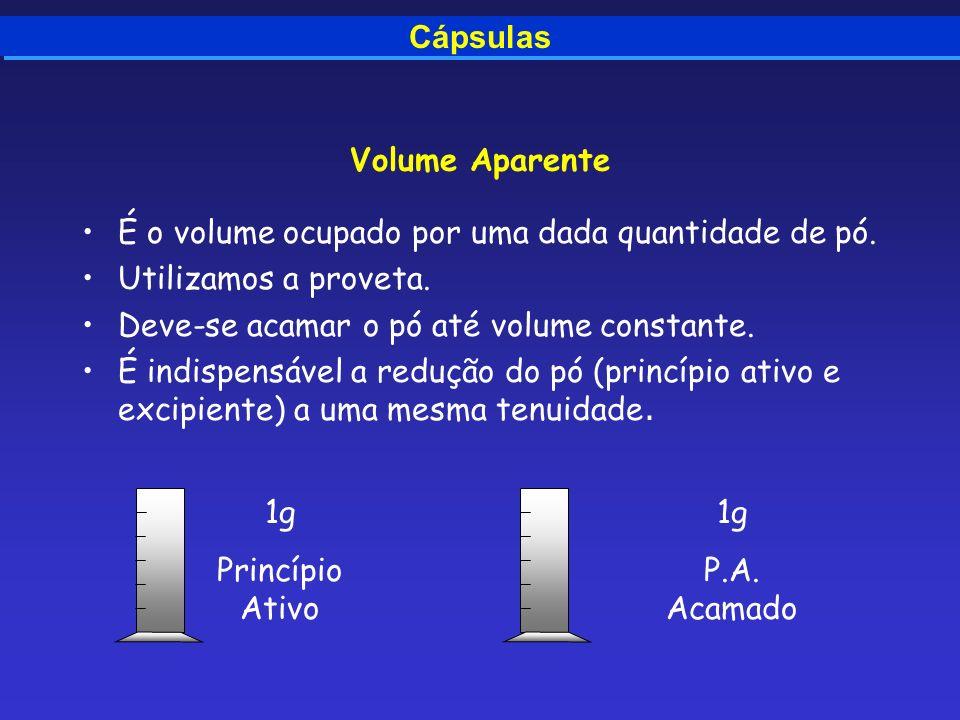 Volume Aparente Cápsulas