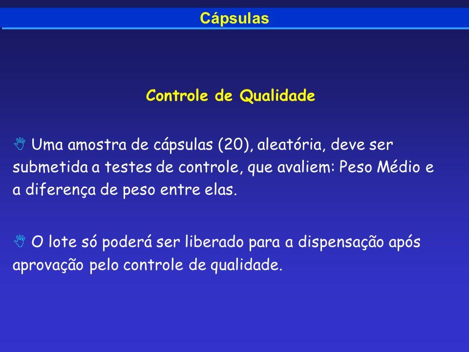 CápsulasControle de Qualidade.