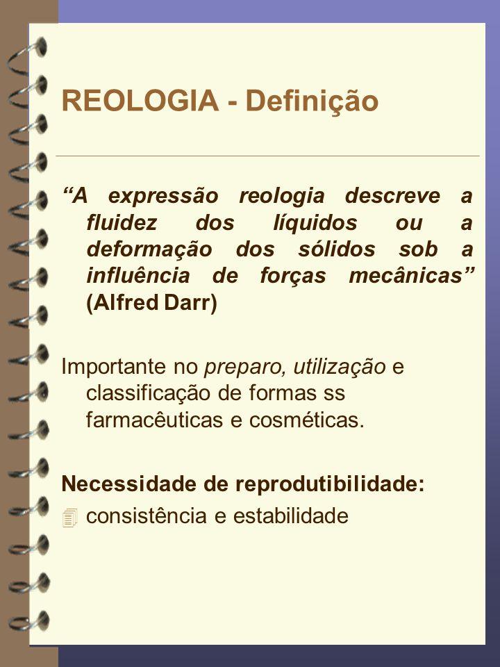 REOLOGIA - Definição