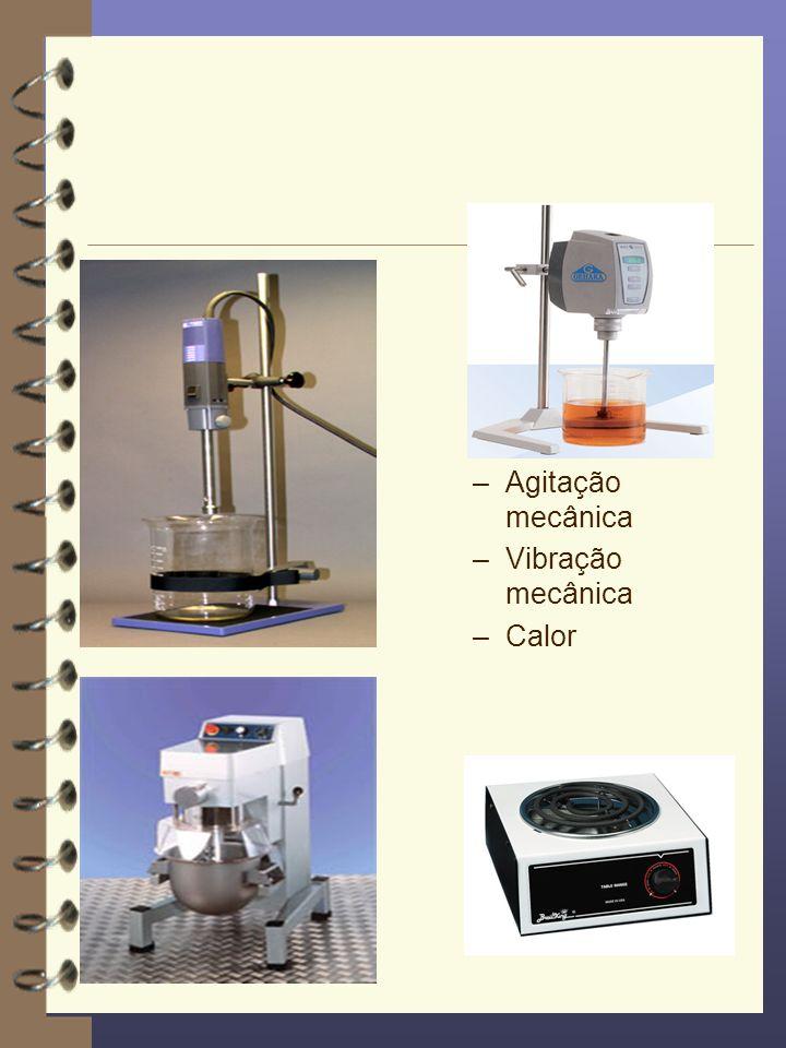 Agitação mecânica Vibração mecânica Calor