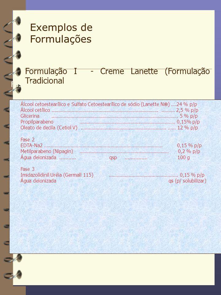 Exemplos de Formulações