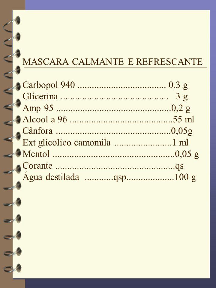 MASCARA CALMANTE E REFRESCANTE
