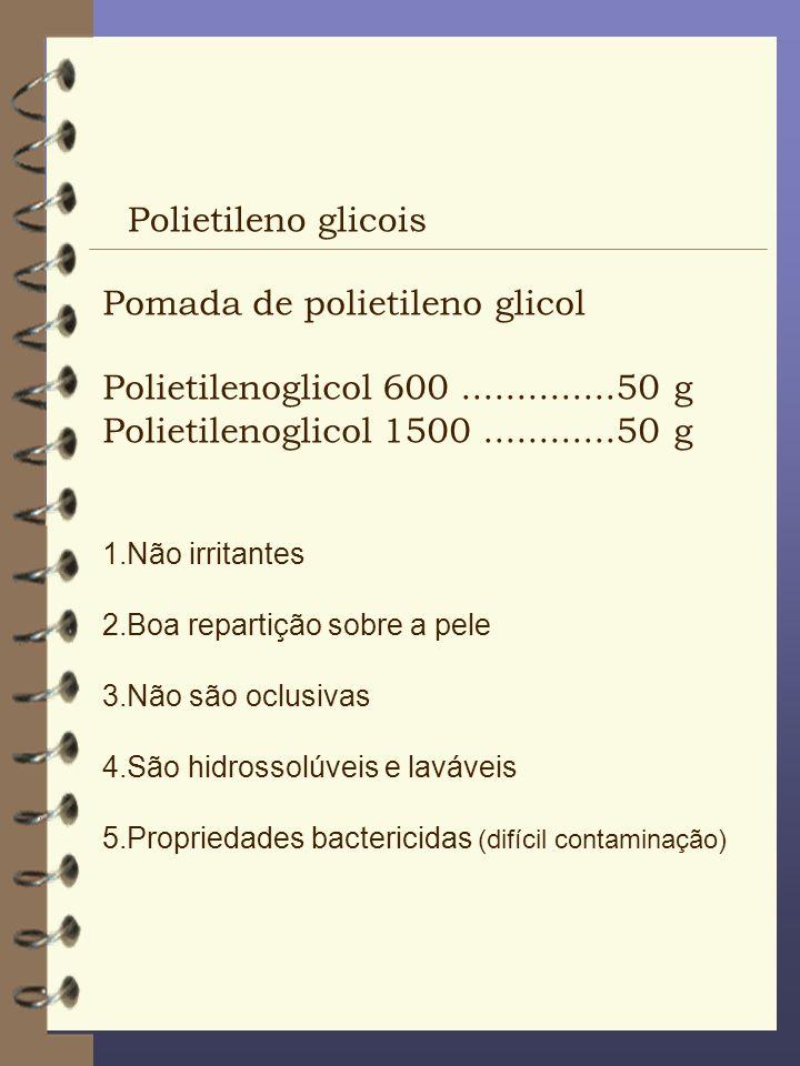 Pomada de polietileno glicol Polietilenoglicol 600 ..............50 g