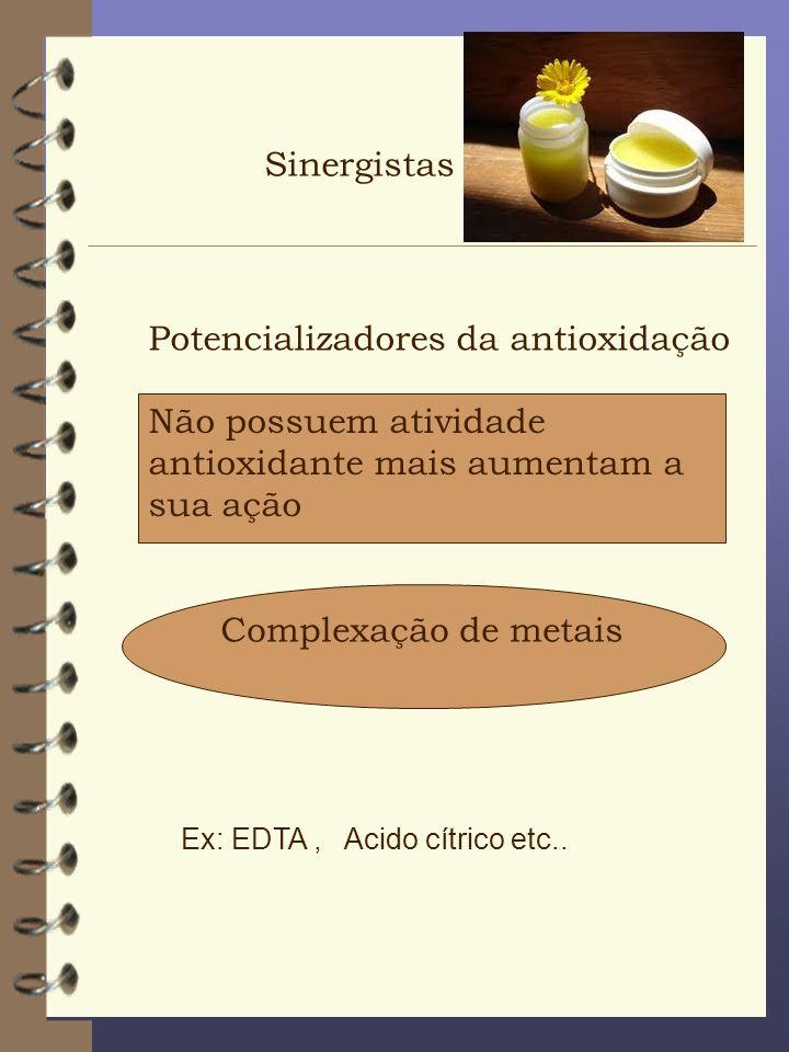 Potencializadores da antioxidação
