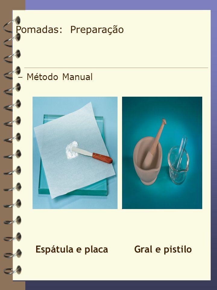 Pomadas: Preparação Método Manual.