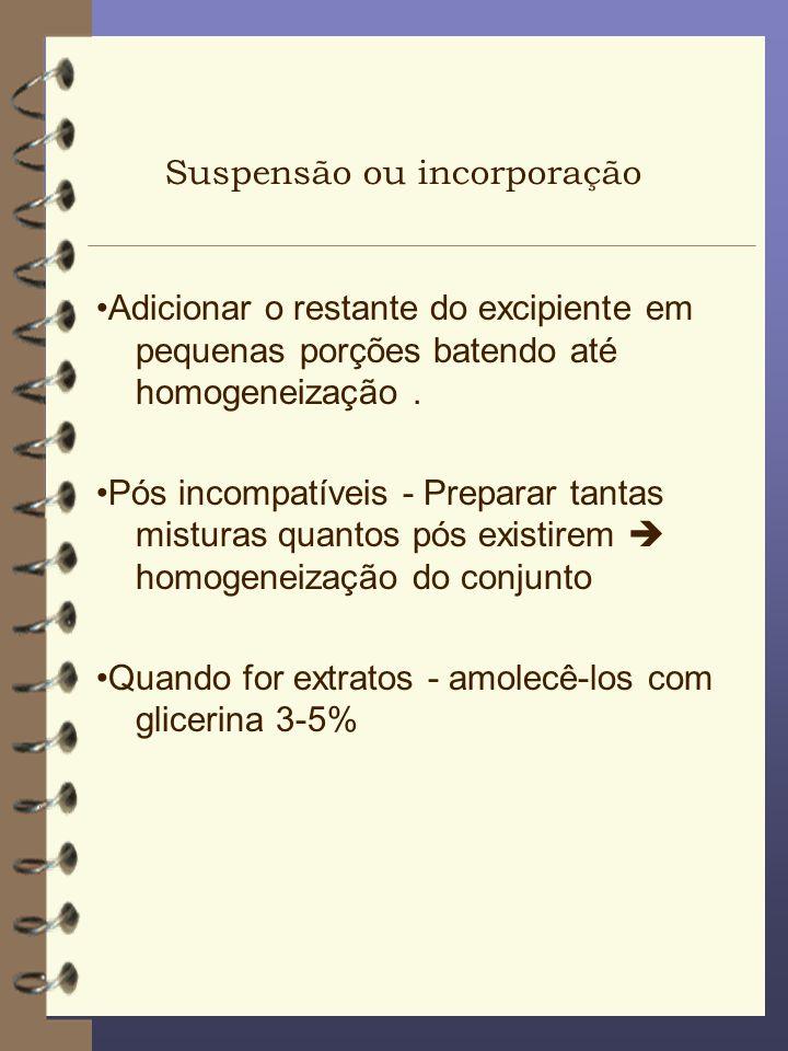 Suspensão ou incorporação