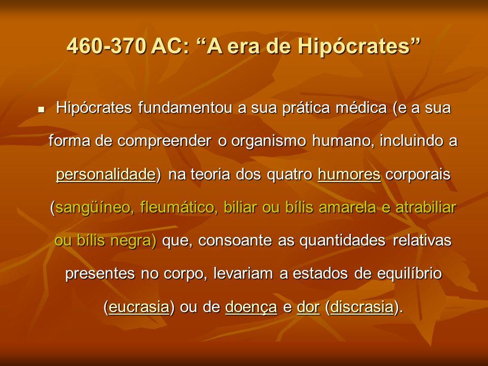 460-370 AC: A era de Hipócrates