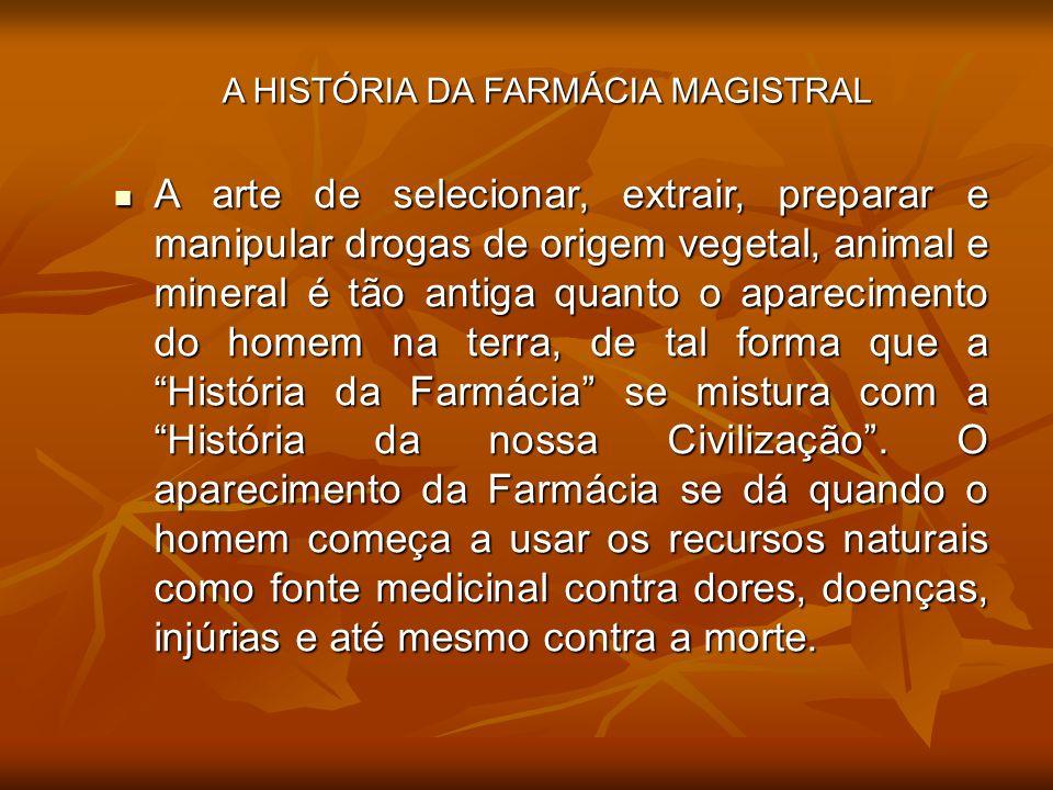 A HISTÓRIA DA FARMÁCIA MAGISTRAL