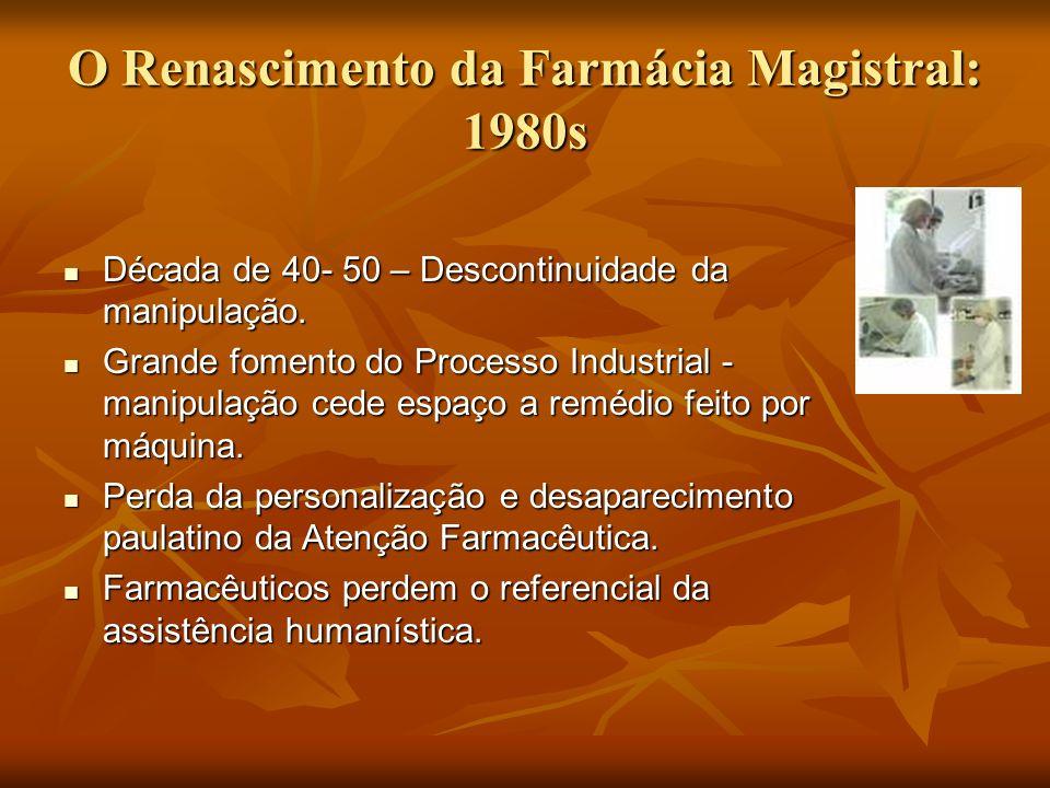 O Renascimento da Farmácia Magistral: 1980s