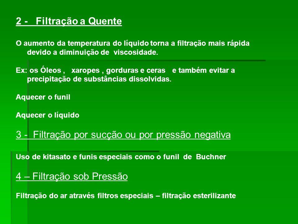 3 - Filtração por sucção ou por pressão negativa