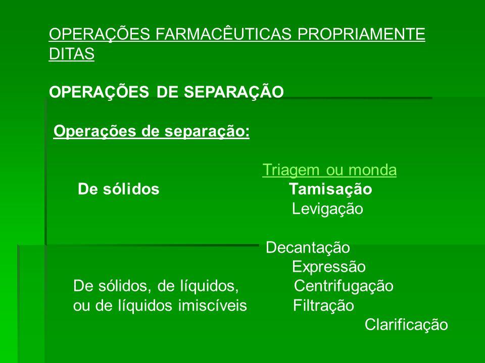 OPERAÇÕES FARMACÊUTICAS PROPRIAMENTE DITAS