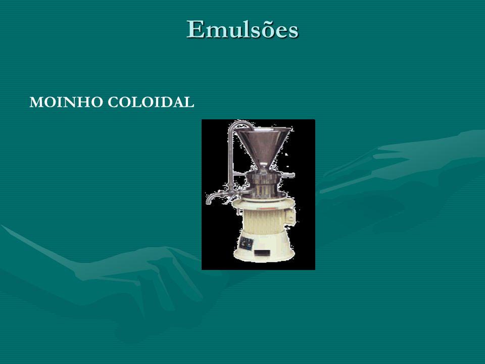 Emulsões MOINHO COLOIDAL