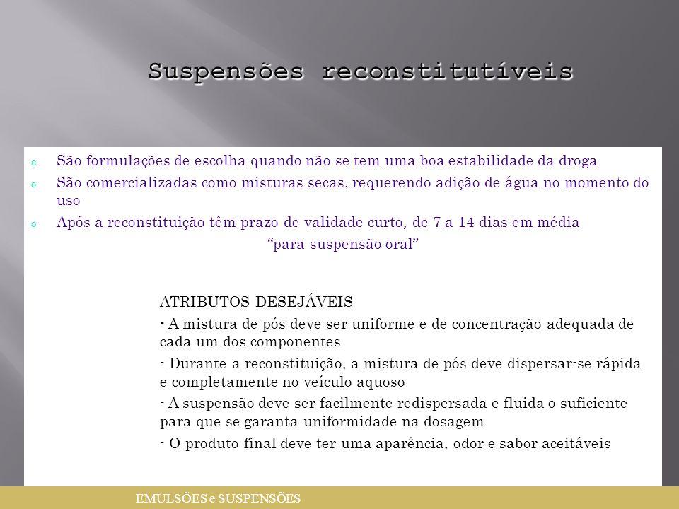 Suspensões reconstitutíveis