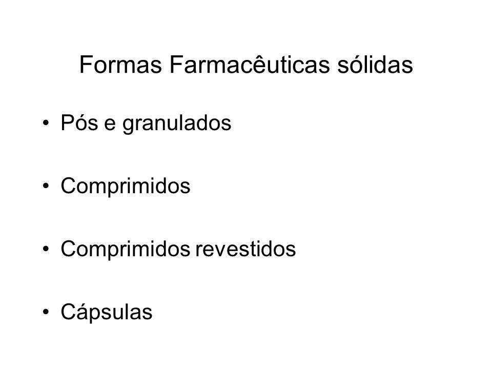 Formas Farmacêuticas sólidas