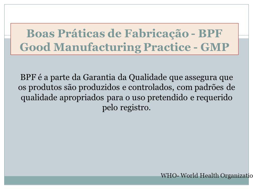 Boas Práticas de Fabricação - BPF Good Manufacturing Practice - GMP