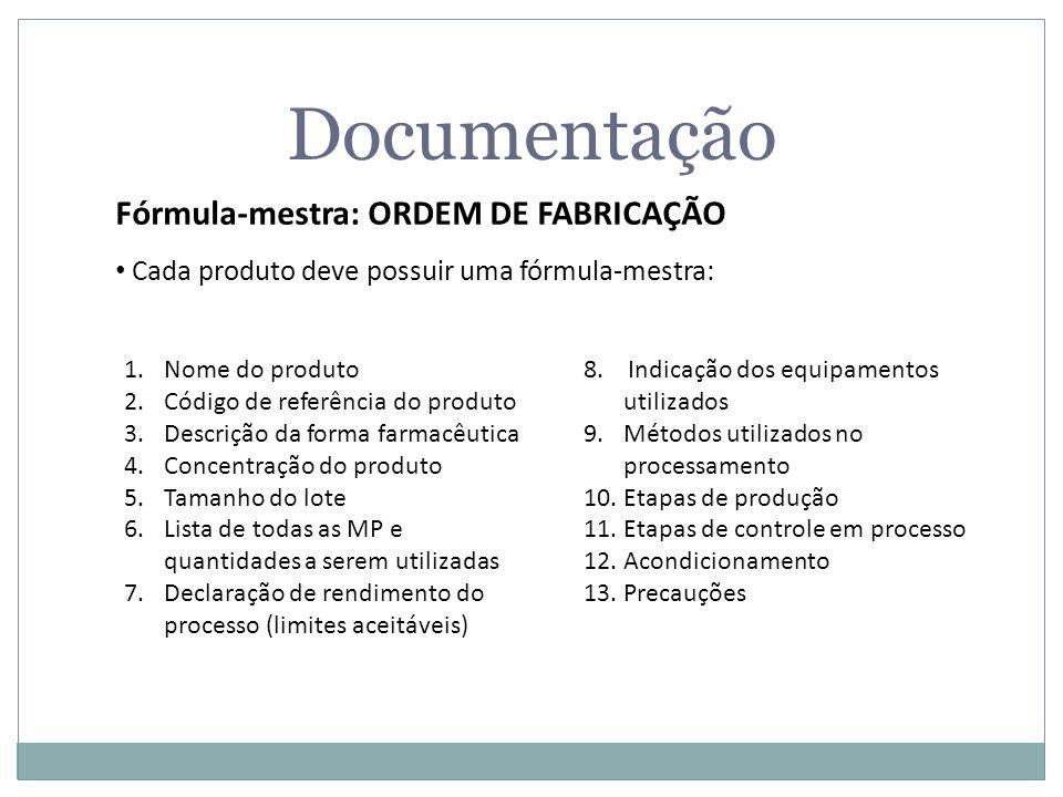 Documentação Fórmula-mestra: ORDEM DE FABRICAÇÃO