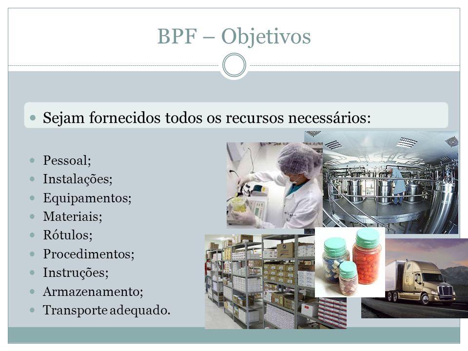 BPF – Objetivos Sejam fornecidos todos os recursos necessários: