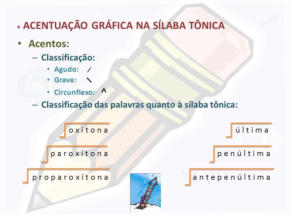 ACENTUAÇÃO GRÁFICA NA SÍLABA TÔNICA