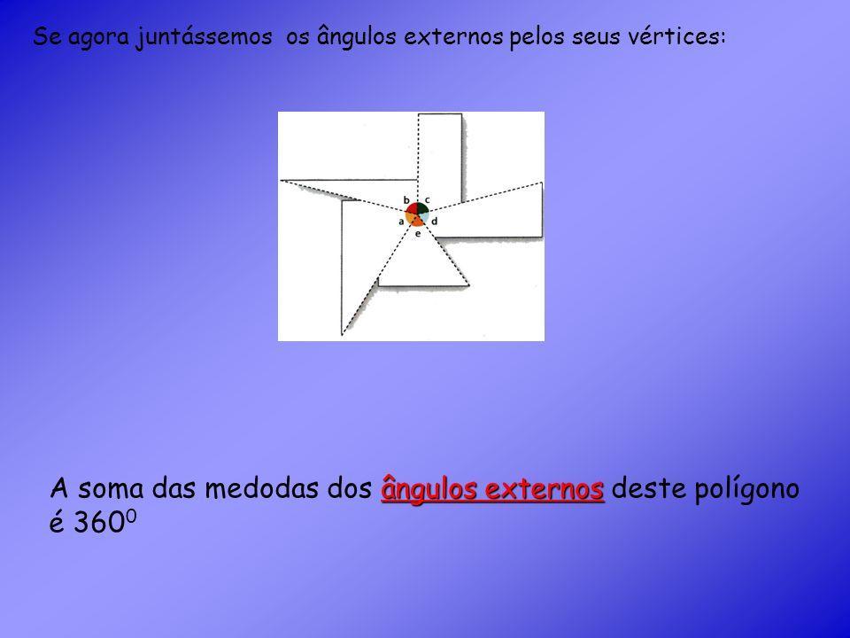 A soma das medodas dos ângulos externos deste polígono é 3600