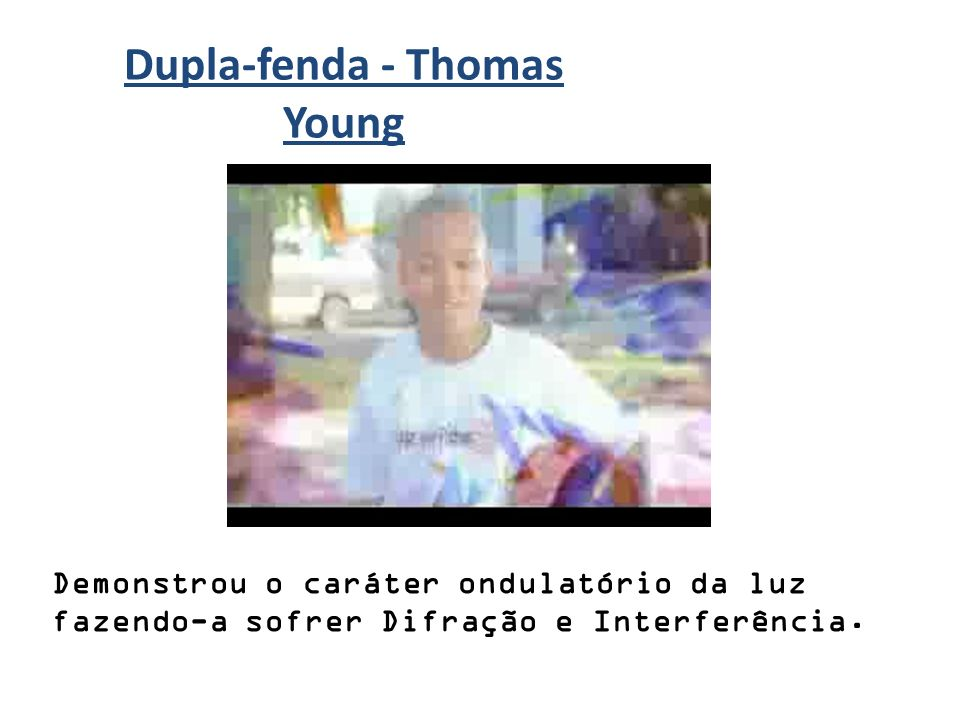 Dupla-fenda - Thomas Young