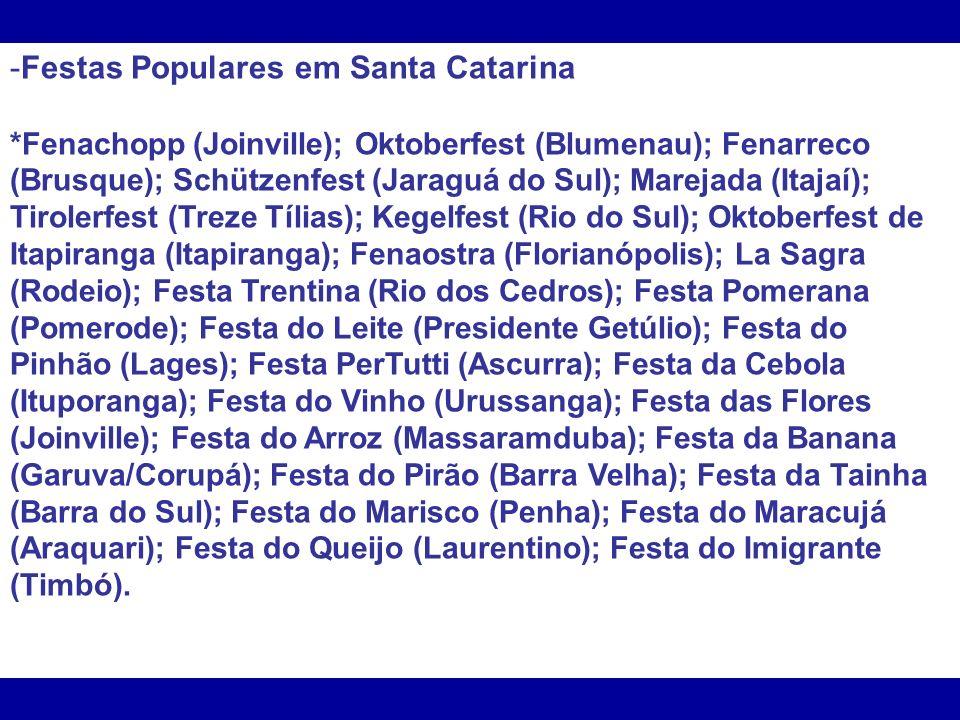Festas Populares em Santa Catarina
