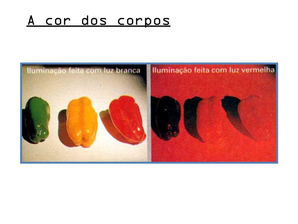 A cor dos corpos