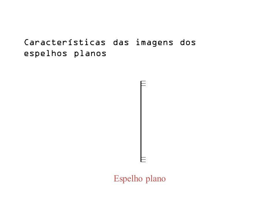 Características das imagens dos espelhos planos