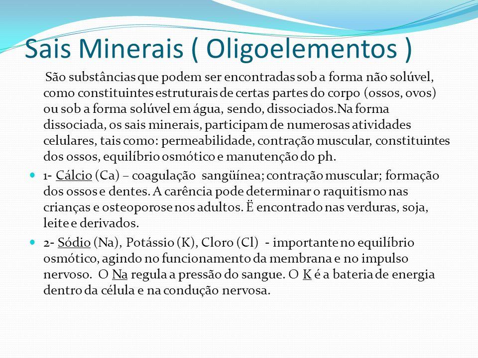 Sais Minerais ( Oligoelementos )