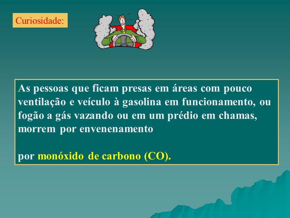 morrem por envenenamento por monóxido de carbono (CO).