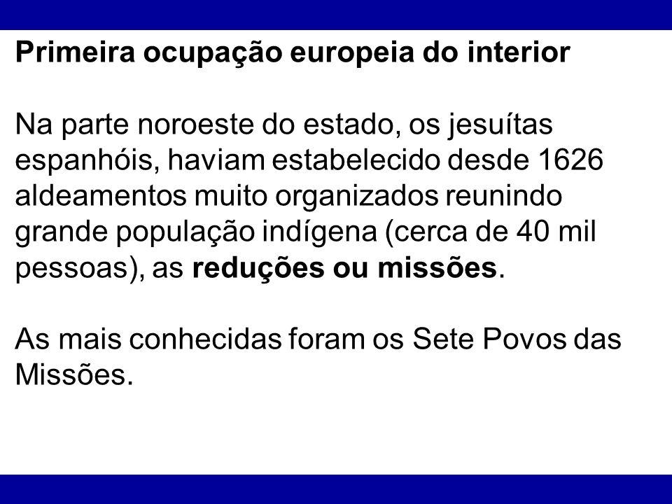 Primeira ocupação europeia do interior
