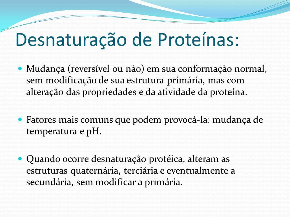 Desnaturação de Proteínas: