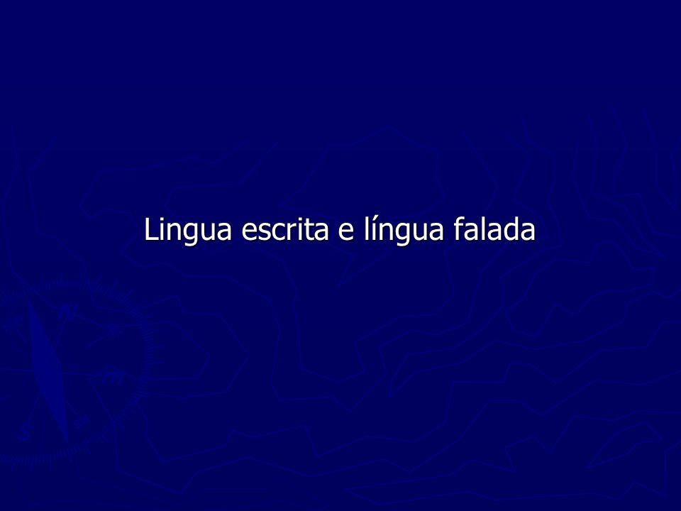 Lingua escrita e língua falada